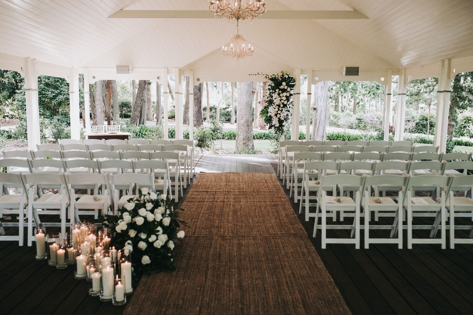 ceremony with jute rugs