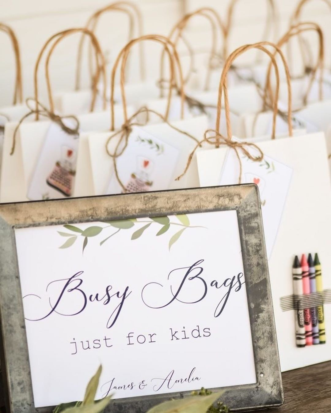 Activity bags for kids on a table