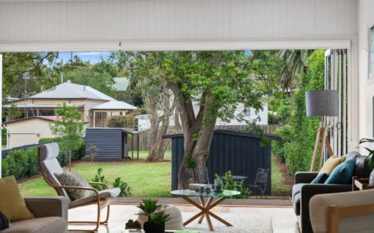 Outlook over back gardens