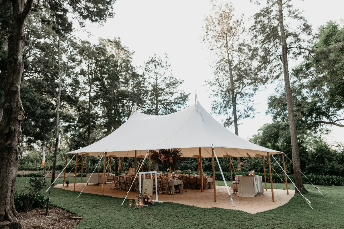 Outdoor reception tent