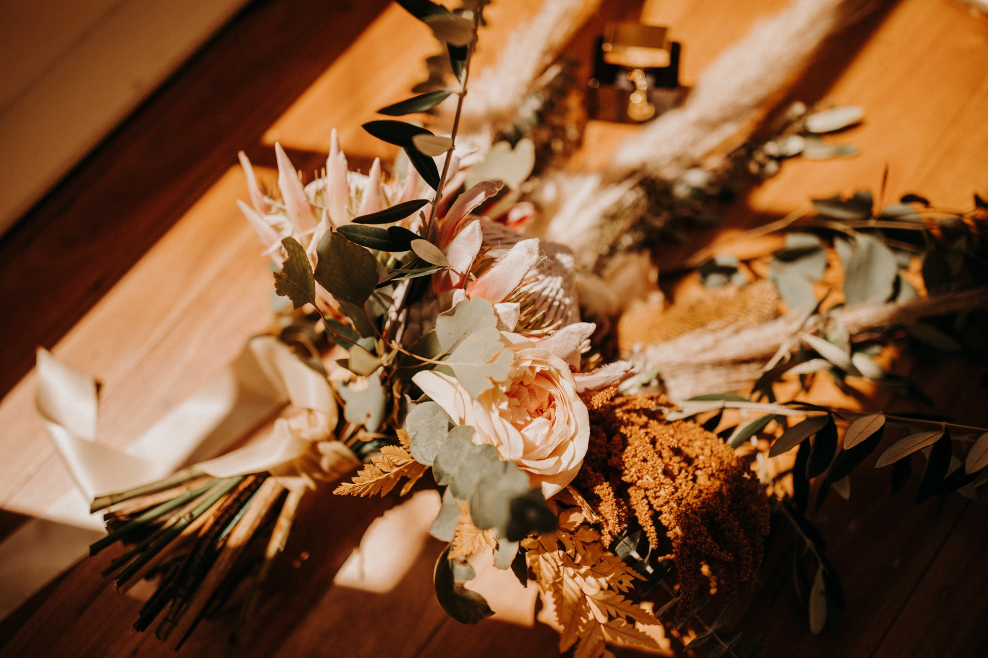 Wedding bouquet with native florals