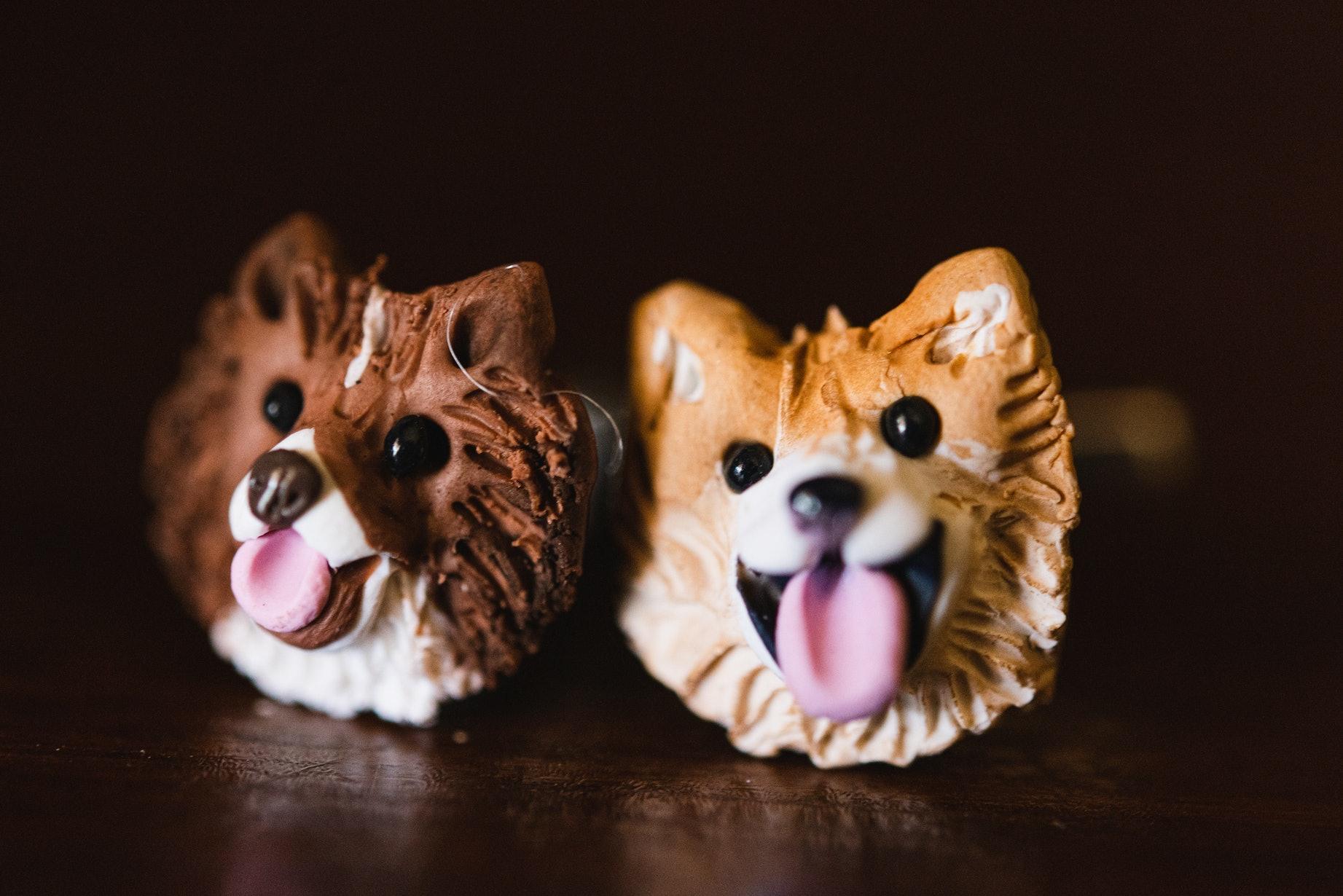 Customized puppy cufflinks