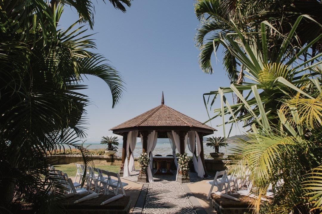 Wedding ceremony near beach