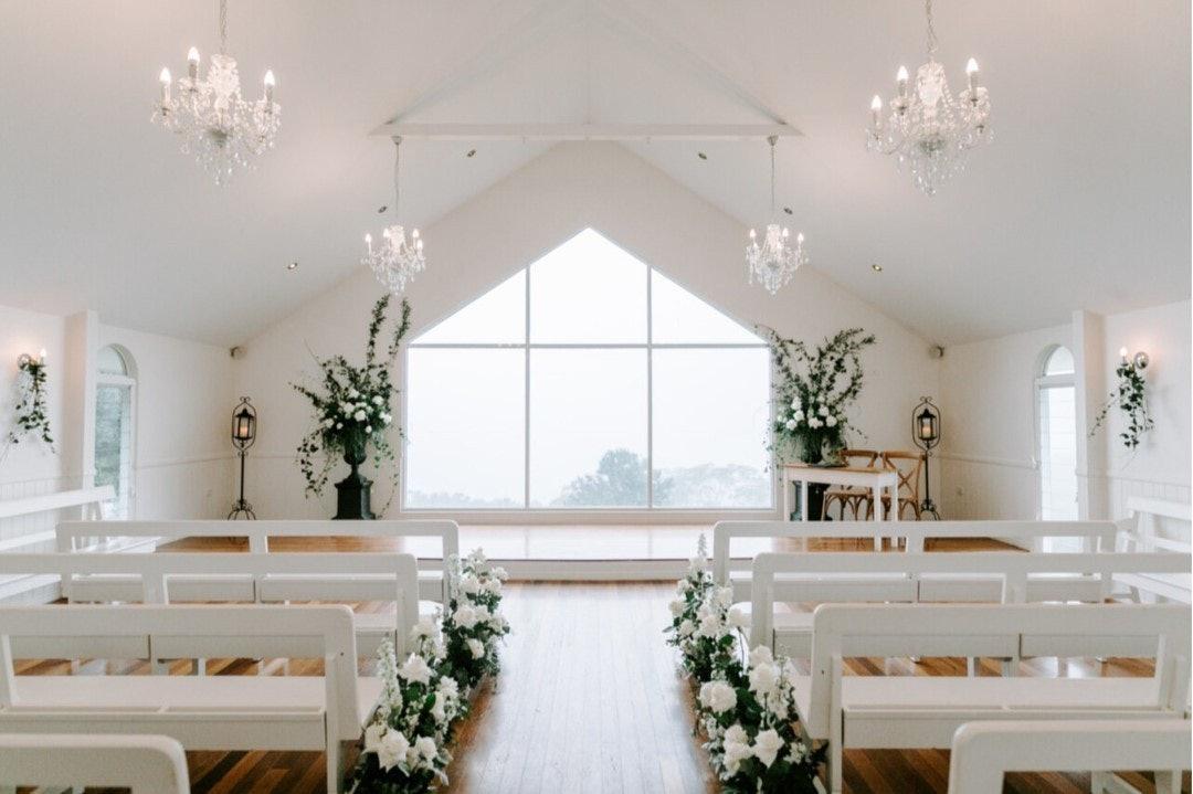 Indoor wedding chapel