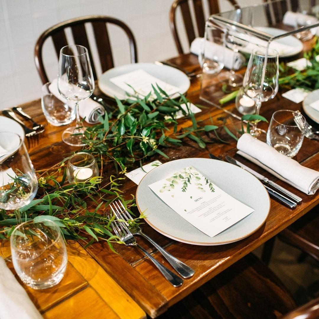Reception tables at wedding