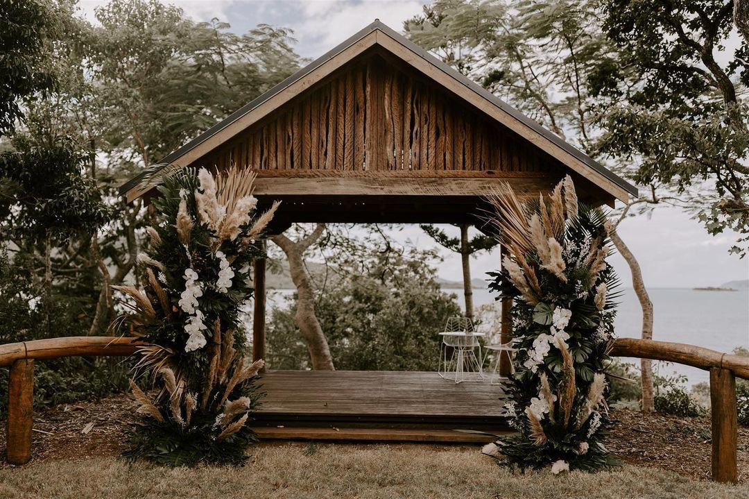Rustic wedding pavilion