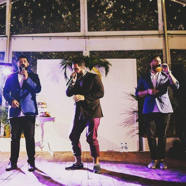 Band performing at wedding