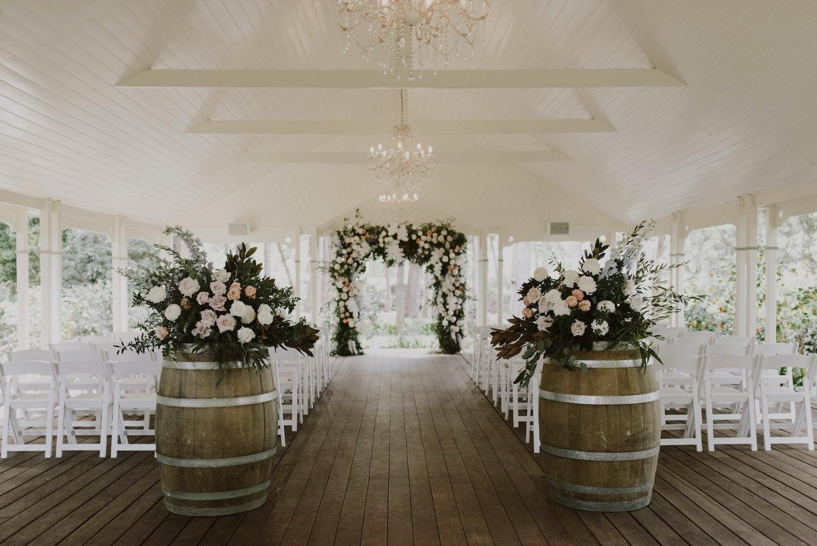 Wedding ceremony in pavilion