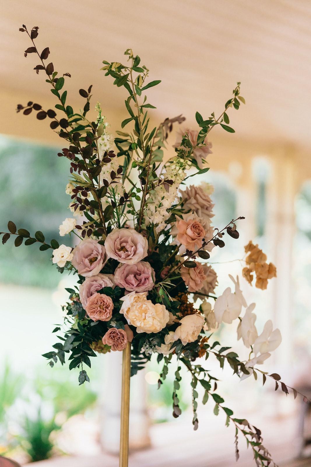 Bridal flowers in arbor