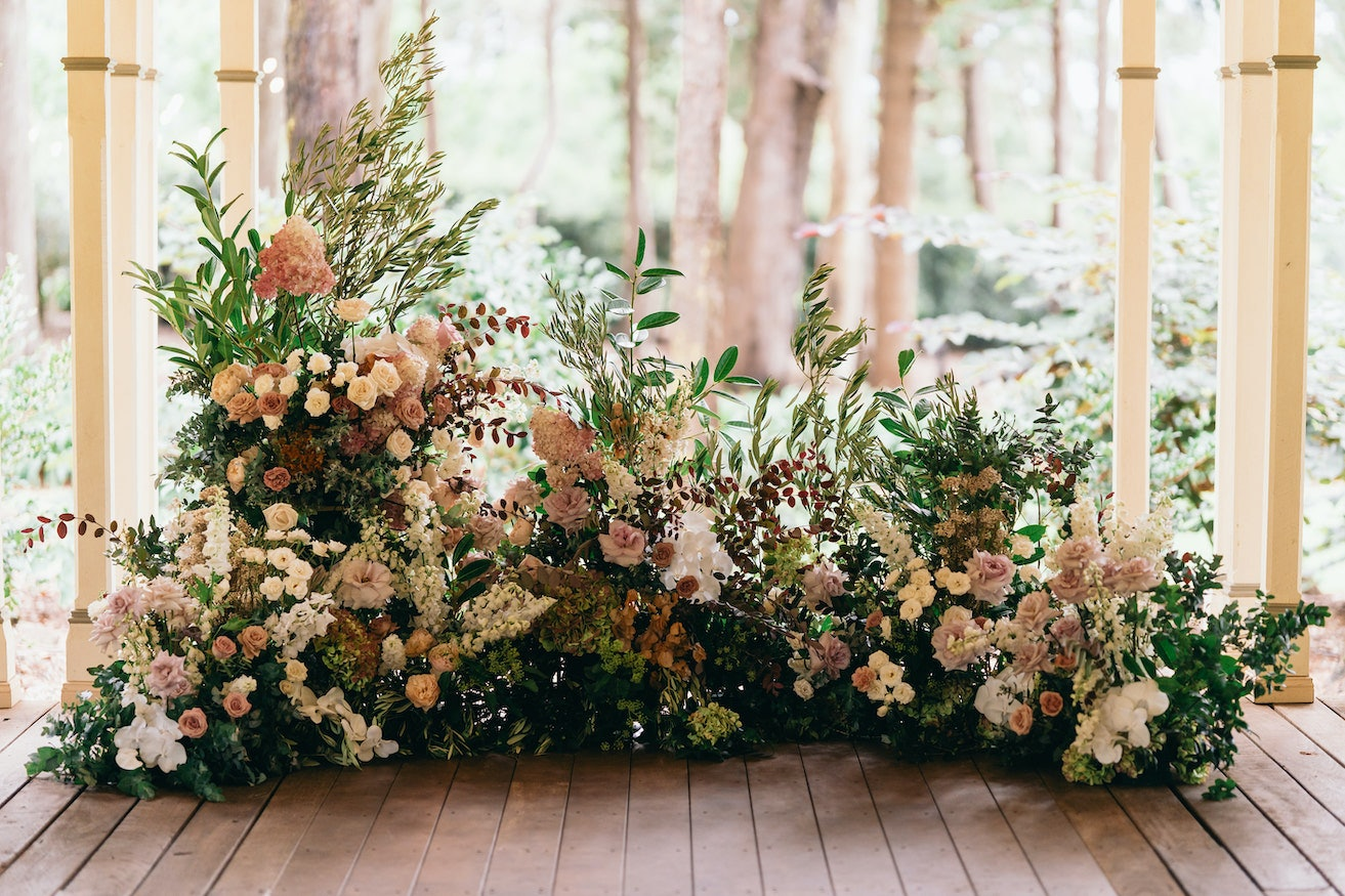 Bridal arbor with lots of flowers