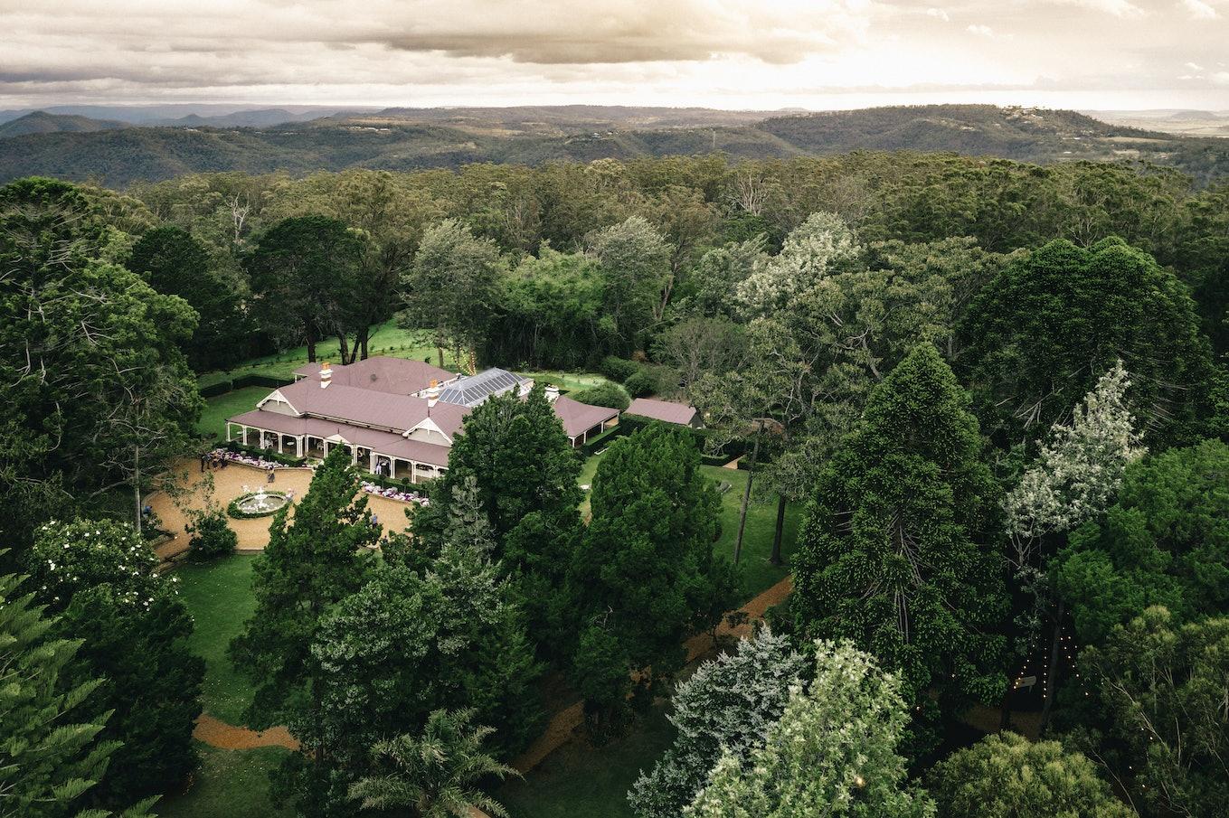 Gabbinbar Homestead aerial view