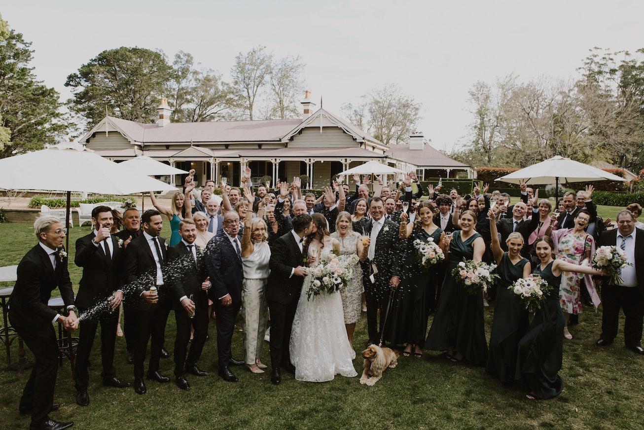 Photos of wedding guests