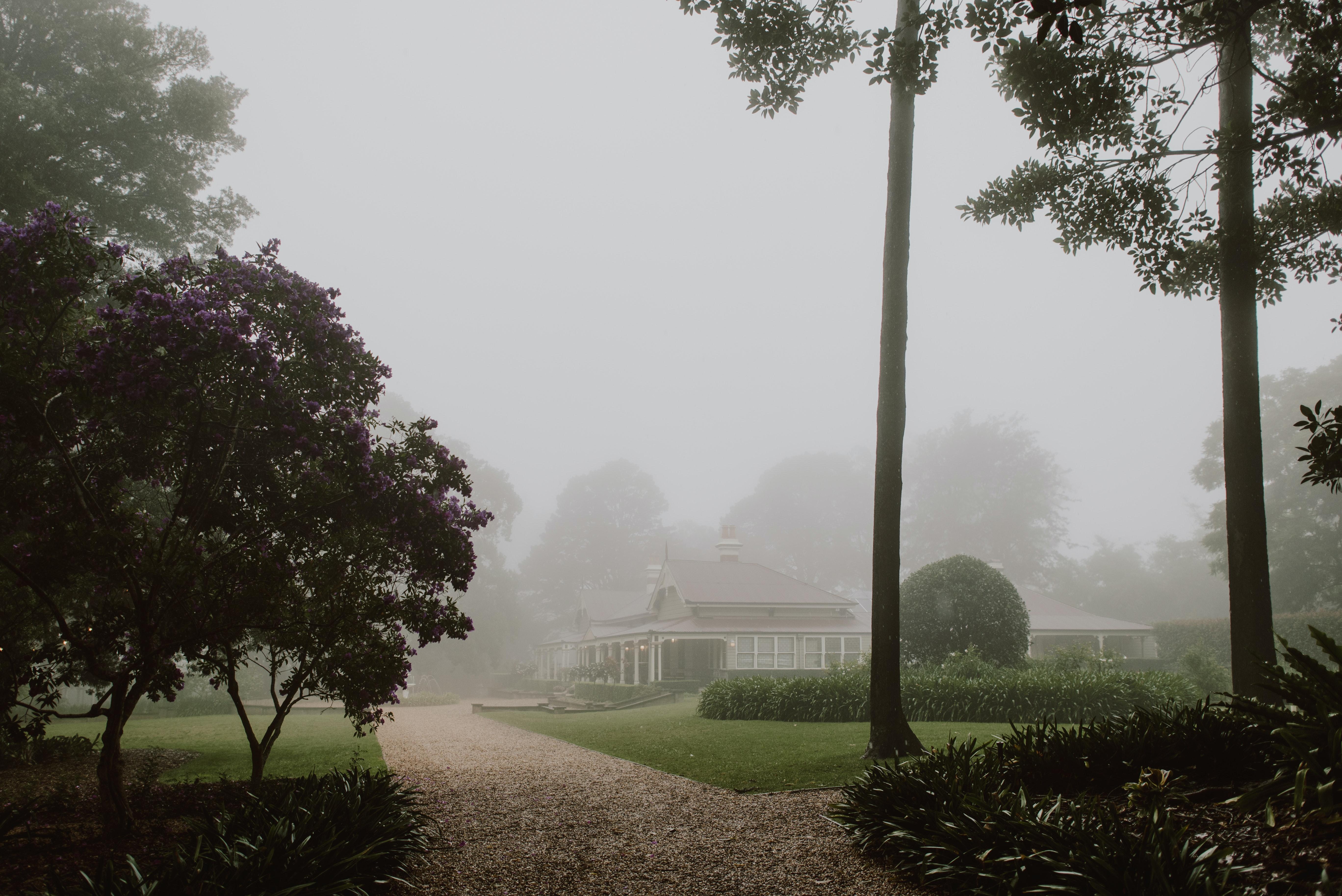 Gabbinbar Homestead in fog
