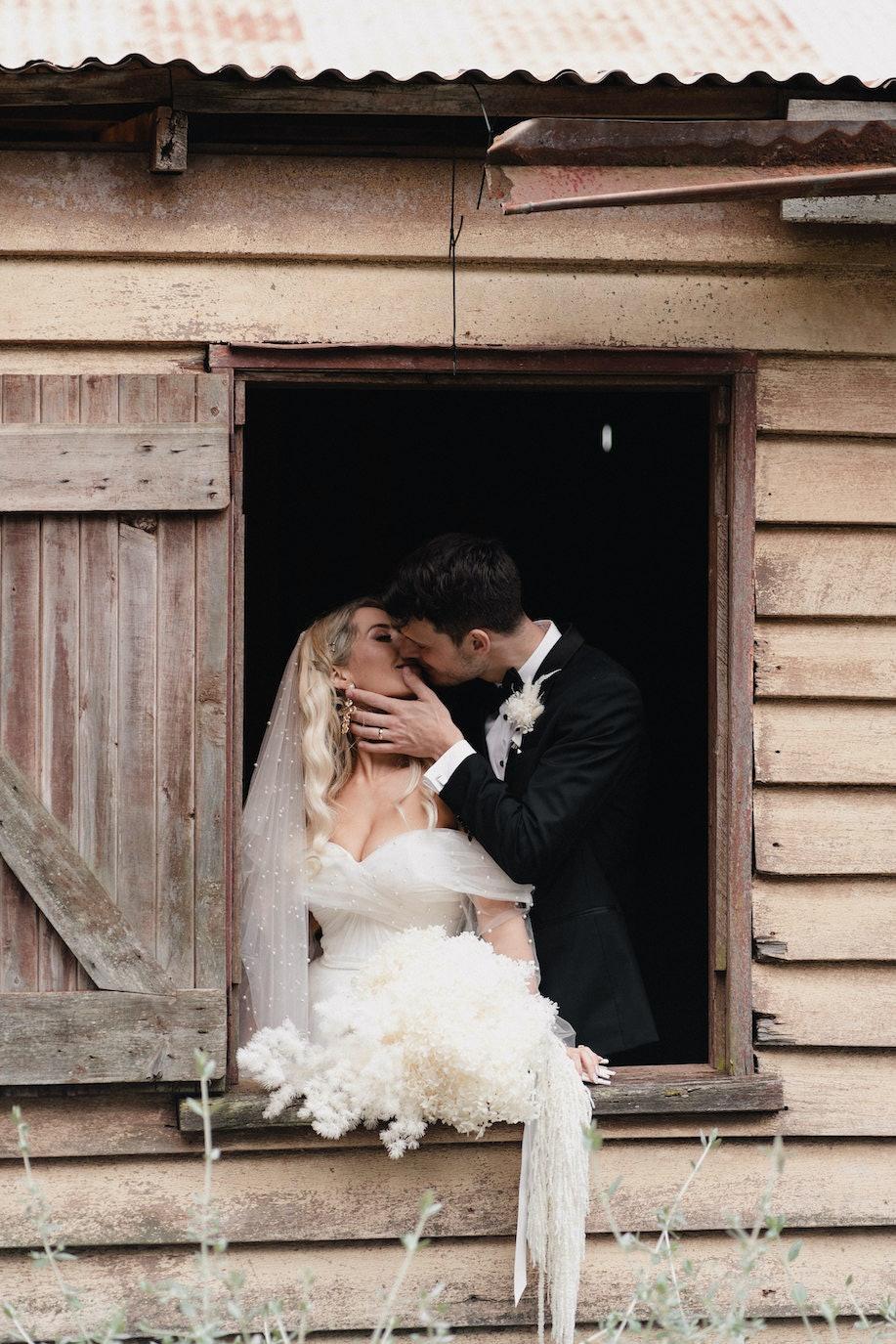 Bride playing piano
