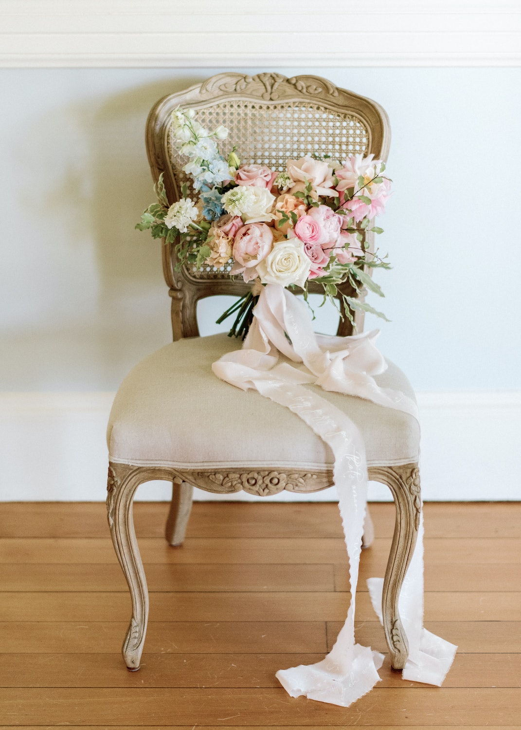Bouquet on chairs