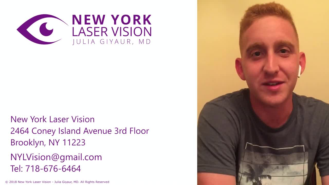 LASIK eye surgery patient in NYC shares review of New York Laser Vision