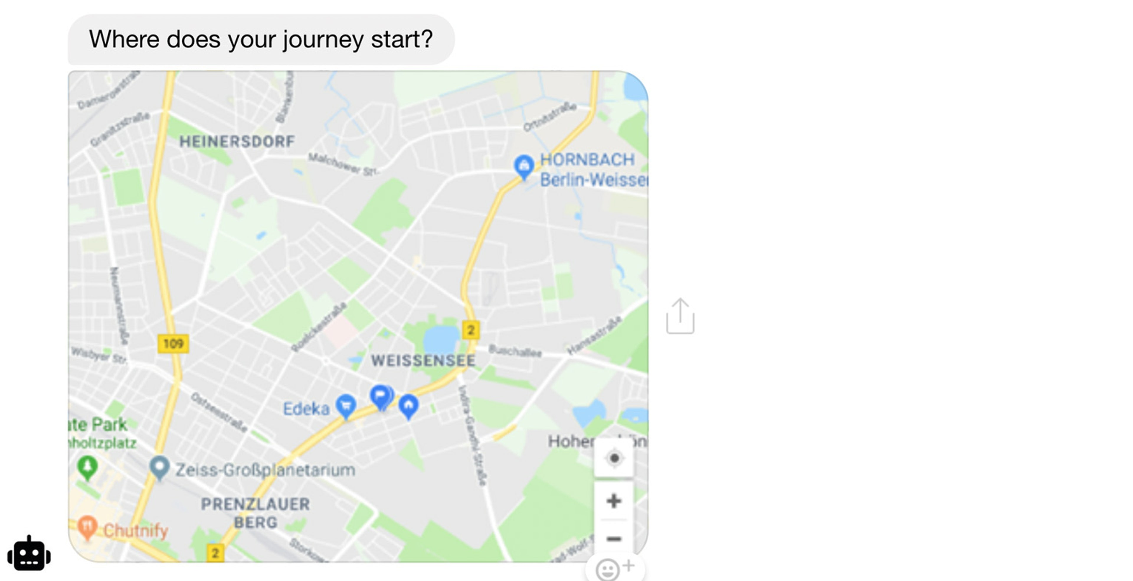 a map to interact with is familiar makes it very clear what the user needs to do