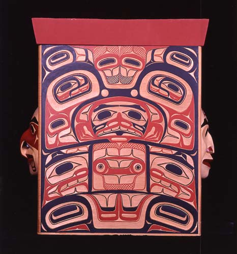 Bentwood Box With Masks