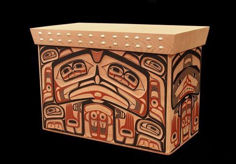 Bear Design Bentwood Box
