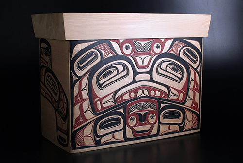 Back side of Bentwood Box