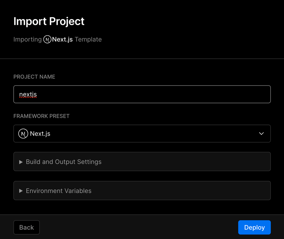 Importing a Project to Vercel. | Tags: text, computer hardware, computer keyboard, computer, electronics, hardware, keyboard