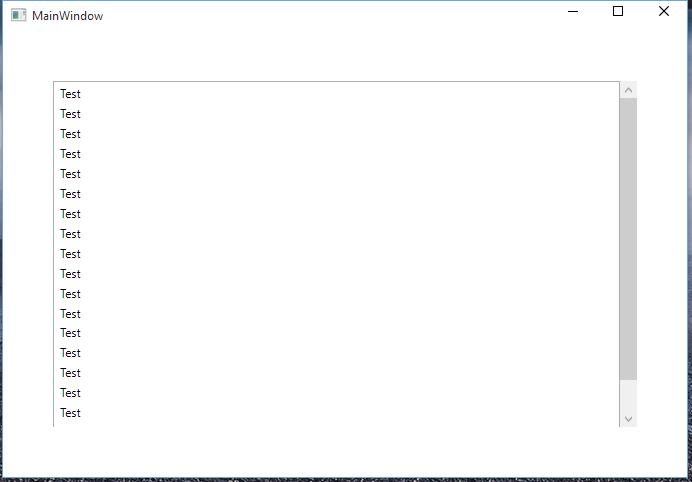 Default Windows Scrollbar on WPF Window