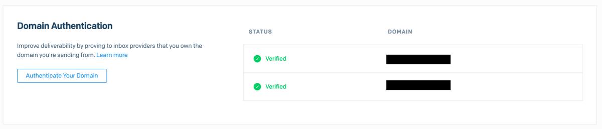 SendGrid - Domain Authentication