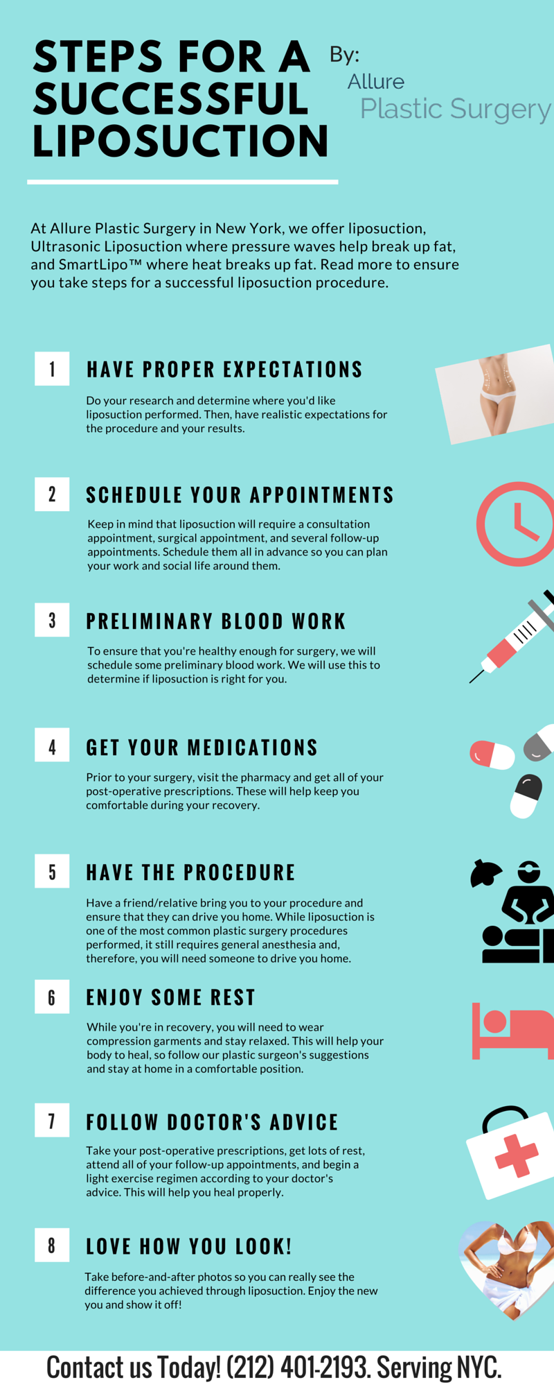 Successful Liposuction Steps | Infographic | NY Plastic Surgery