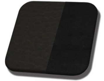 #6525-99 Charcoal Black - Black Suede