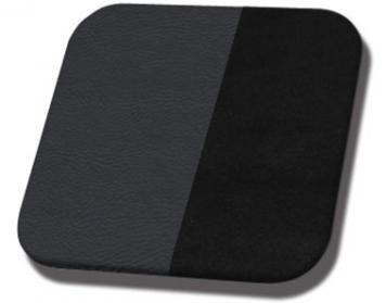 #2295-99 Black Madrid Vinyl - Black Suede