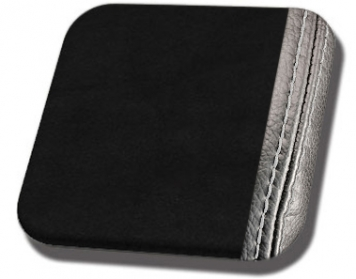 #99-WS Black UniSuede with White Stitch