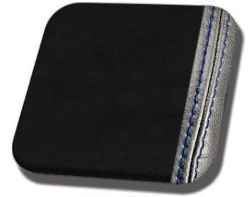 #99-BS Black UniSuede with Blue Stitch