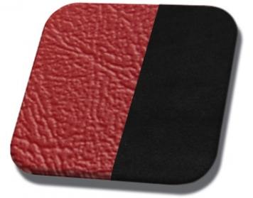 #957-99 Bright Red & Black Suede