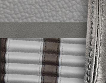 #972-7042-972-GS Grey Vinyl -Graphite Suede - Grey Stripe & Stitch