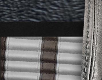 #958-99-972-GS Black Vinyl - Black Suede - Grey Stripe & Stitch