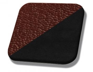 #3724-99 Dark Red Vinyl - Black Suede