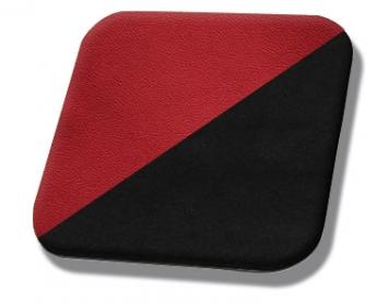 #7300-99 Red Vinyl - Black Suede