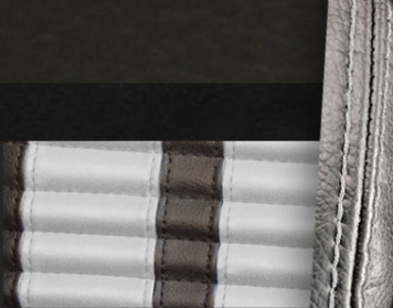 #6525-99-2305-WS Charcoal Black Vinyl - Black Suede - White Stripe & Stitch