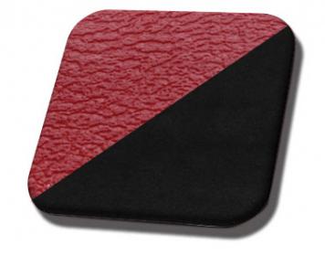 #3048-99 Red Vinyl - Black Suede