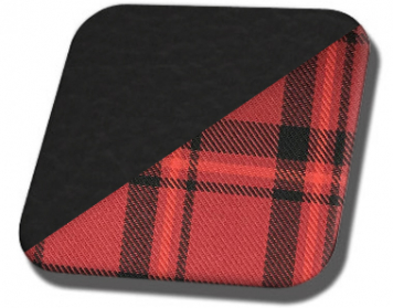 #6525-3414 Charcoal Black Vinyl with Red Plaid Insert