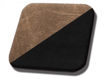 #509-99 Brown Distressed - Black Suede