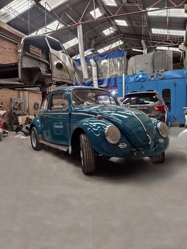 1966 VW Beetle Sport Interior