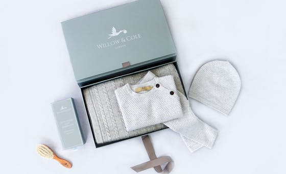 Luxury newborn baby gifts from Willow and Cole.