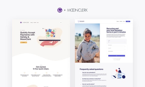 Build Landing Pages That Accept Payments With Our Gatsby + MoonClerk Starters