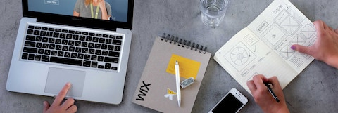 Wix notebook and laptop