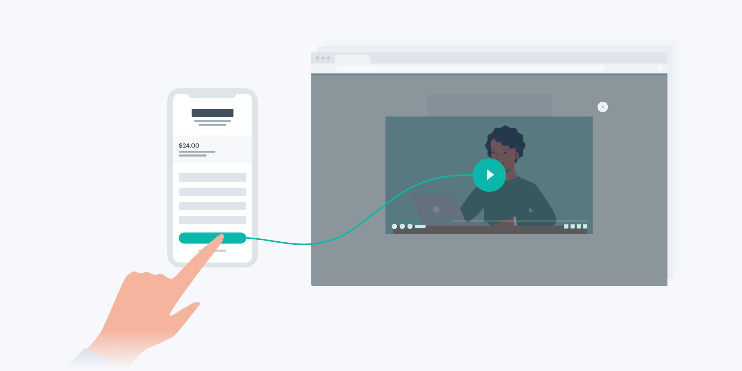 Checkout linking to video meeting