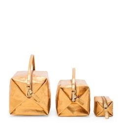 UASHMAMA Origami Case Metallic Napoli