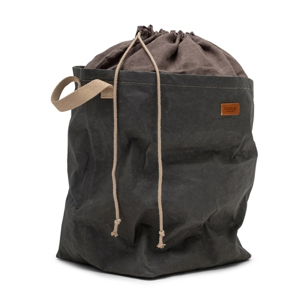 UASHMAMA Positano Laundry Bag Linen Dark Grey