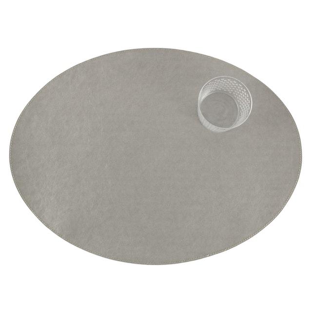 UASHMAMA Placemat Oval Tec Grey
