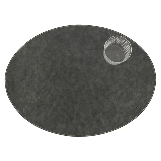 UASHMAMA Placemat Oval Tec  Dark Grey